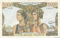 5000 Francs TERRE ET MER FRANCE  1957 F.48.16 TB+