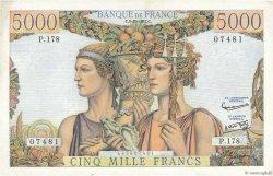 5000 Francs TERRE ET MER FRANCE  1957 F.48.17 pr.SUP