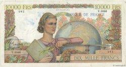 10000 Francs GÉNIE FRANÇAIS FRANCE  1952 F.50.60 B+