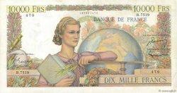 10000 Francs GÉNIE FRANÇAIS FRANCE  1954 F.50.72 TTB