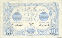 5 Francs BLEU FRANCE  1915 F.02.31 TTB+