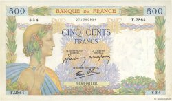 500 Francs LA PAIX FRANCE  1941 F.32.16 SPL