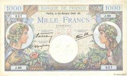 1000 Francs COMMERCE ET INDUSTRIE FRANCE  1940 F.39.01 TTB