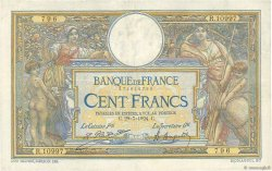 100 Francs LUC OLIVIER MERSON grands cartouches FRANCE  1924 F.24.02 TTB