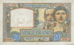 20 Francs SCIENCE ET TRAVAIL FRANCE  1941 F.12.17 TTB