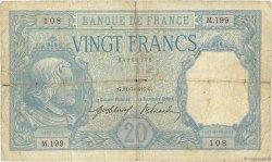 20 Francs BAYARD FRANCE  1916 F.11.01 B+