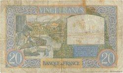 20 Francs SCIENCE ET TRAVAIL FRANCE  1939 F.12.01 TB