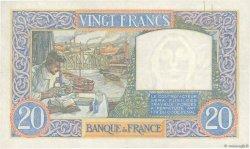 20 Francs SCIENCE ET TRAVAIL FRANCE  1940 F.12.07 SUP