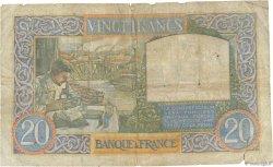 20 Francs SCIENCE ET TRAVAIL FRANCE  1940 F.12.09 B