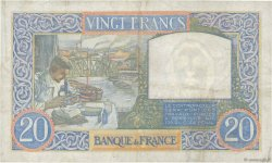 20 Francs SCIENCE ET TRAVAIL FRANCE  1940 F.12.10 TTB