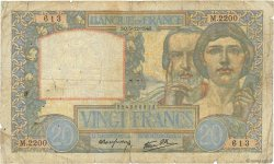 20 Francs TRAVAIL ET SCIENCE FRANCE  1940 F.12.10 B