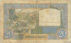 20 Francs SCIENCE ET TRAVAIL FRANCE  1940 F.12.10 B+