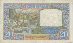 20 Francs SCIENCE ET TRAVAIL FRANCE  1940 F.12.11 TTB