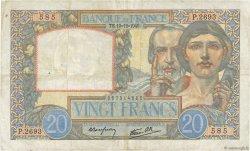 20 Francs SCIENCE ET TRAVAIL FRANCE  1940 F.12.11 pr.TTB