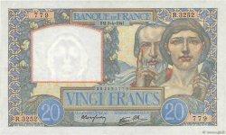 20 Francs SCIENCE ET TRAVAIL FRANCE  1941 F.12.13 TTB à SUP