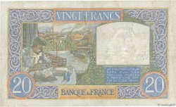 20 Francs SCIENCE ET TRAVAIL FRANCE  1941 F.12.14 TTB
