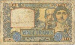 20 Francs SCIENCE ET TRAVAIL FRANCE  1941 F.12.14 B