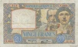 20 Francs SCIENCE ET TRAVAIL FRANCE  1941 F.12.14 TB+