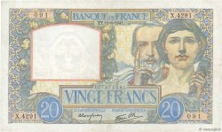 20 Francs SCIENCE ET TRAVAIL FRANCE  1941 F.12.15 TTB+
