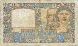 20 Francs SCIENCE ET TRAVAIL FRANCE  1941 F.12.15 pr.TB