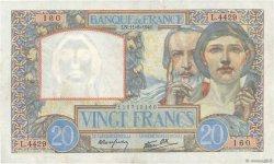 20 Francs SCIENCE ET TRAVAIL FRANCE  1941 F.12.15 pr.SUP