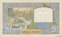 20 Francs SCIENCE ET TRAVAIL FRANCE  1941 F.12.16 SUP