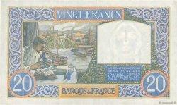 20 Francs SCIENCE ET TRAVAIL FRANCE  1941 F.12.16 pr.SUP