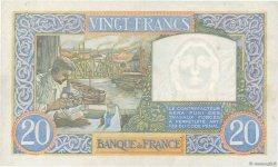 20 Francs SCIENCE ET TRAVAIL FRANCE  1941 F.12.17 pr.SUP
