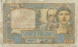 20 Francs SCIENCE ET TRAVAIL FRANCE  1941 F.12.17 B