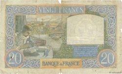 20 Francs SCIENCE ET TRAVAIL FRANCE  1941 F.12.18 B+