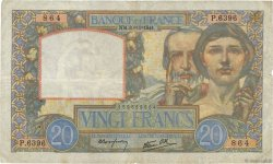 20 Francs SCIENCE ET TRAVAIL FRANCE  1941 F.12.19 TB