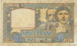 20 Francs SCIENCE ET TRAVAIL FRANCE  1941 F.12.20 B