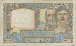 20 Francs SCIENCE ET TRAVAIL FRANCE  1942 F.12.21 TB