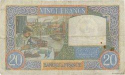 20 Francs SCIENCE ET TRAVAIL FRANCE  1942 F.12.21 TB