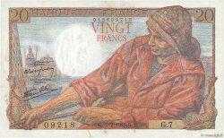 20 Francs PÊCHEUR FRANCE  1942 F.13.01 pr.SUP