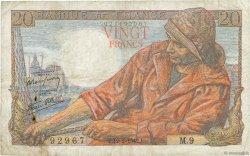 20 Francs PÊCHEUR FRANCE  1942 F.13.01 TB+