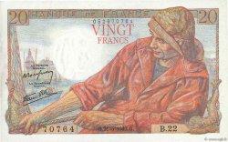 20 Francs PÊCHEUR FRANCE  1942 F.13.02 pr.SPL