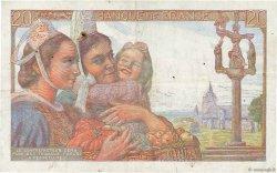20 Francs PÊCHEUR FRANCE  1942 F.13.02 TTB+