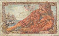 20 Francs PÊCHEUR FRANCE  1942 F.13.02 B+