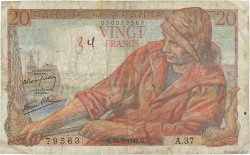 20 Francs PÊCHEUR FRANCE  1942 F.13.03 B