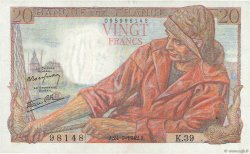 20 Francs PÊCHEUR FRANCE  1942 F.13.03 SUP