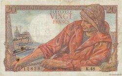 20 Francs PÊCHEUR FRANCE  1942 F.13.04 TB+