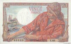 20 Francs PÊCHEUR FRANCE  1942 F.13.04 SUP