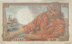 20 Francs PÊCHEUR FRANCE  1943 F.13.05 TB