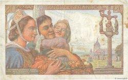20 Francs PÊCHEUR FRANCE  1943 F.13.05 TTB