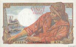 20 Francs PÊCHEUR FRANCE  1943 F.13.06 TTB+