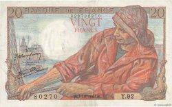 20 Francs PÊCHEUR FRANCE  1943 F.13.07 SUP