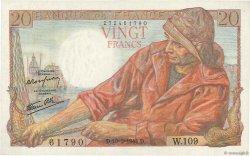 20 Francs PÊCHEUR FRANCE  1944 F.13.08 SPL