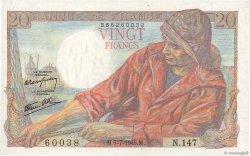 20 Francs PÊCHEUR FRANCE  1945 F.13.10 SUP+