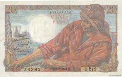 20 Francs PÊCHEUR FRANCE  1949 F.13.15 TTB